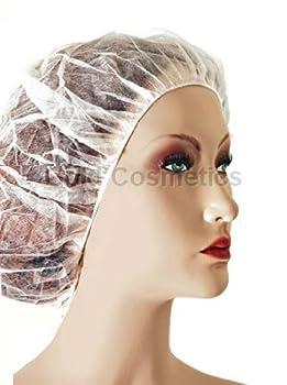 2000 Ct. White Disposable Accordion BOUFFANT CAP Non Woven Facial Hair Shower Client