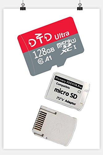 128GB MicroMiniSD Memory Card Class 10 Memory A1 Card +PSV adaptor