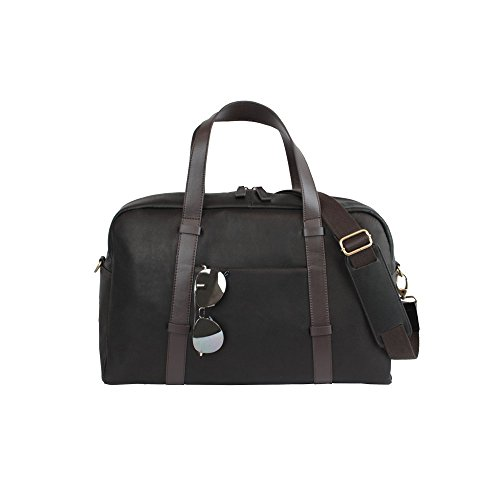 Bellino Oxford Leather Duffel Classic Leather Business Carry on Bag by Bellino