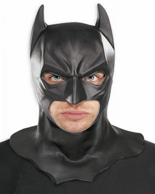 Batman The Dark Knight Rises Full Batman Mask, Black, One Size ()
