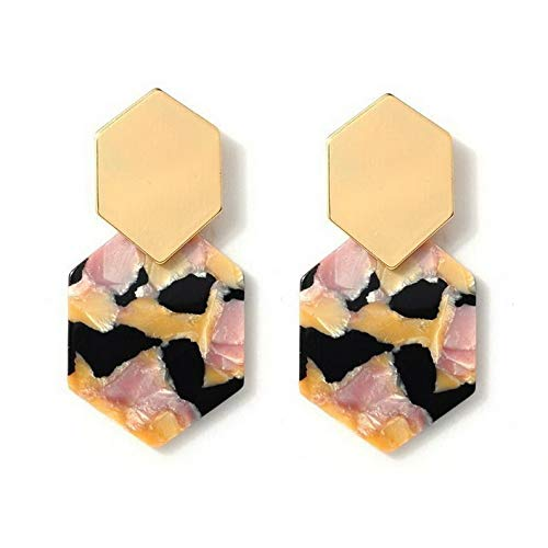 Wausa 1Pair Acrylic Marbled Leopard Stud Earrings Fashion Tortoise Shell Print Jewelry | Model ERRNGS - 9902 |