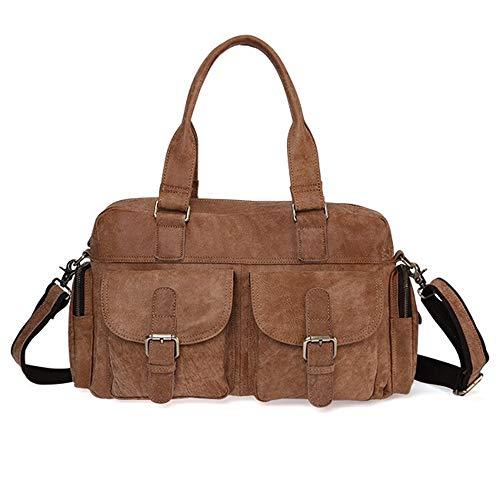 ayng a Crossbody Tessuto Vintage tracolla Wy strato mucca Primo in Bag all'usuramarrone marrone Fashion Borse pelle di Comodoresistente 29HEDI