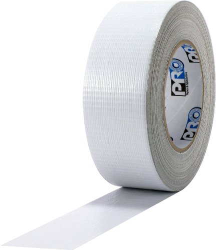 """ProTapes Pro Duct 110 PE-Coated Cloth General Purpose Duct Tape, 60 yds Length x 2"""" Width, White (Pack of 1)"""