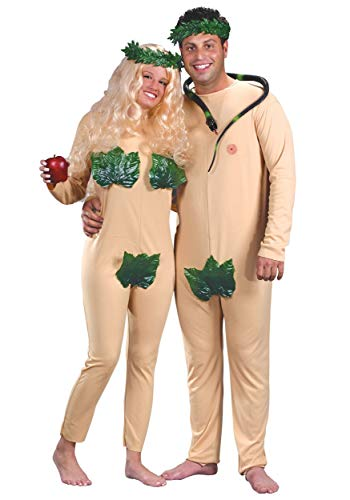 FunWorld Adam and Eve 2 In 1 Bag, Nude, One Size Costume