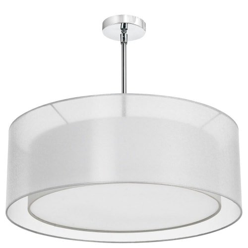 (Dainolite Lighting MEL307-819-790-PC 4-Light Pendant with Double Shade White and White with 790 Diffuser )