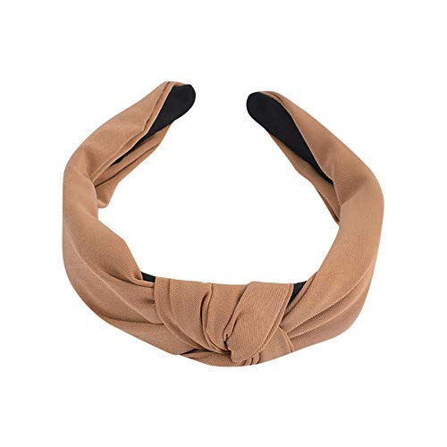 AutumnFall Yoga Sports Headband,Women's Elastic Athletic Hairband,Women's Sweatband, Lightweight Working Out Bandanas Headbands (Khaki)