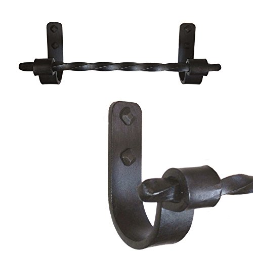 (High Country Iron Jerome Twisted Iron Towel Bar, 16