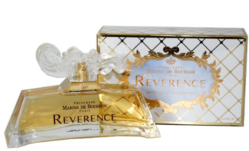Reverence by Princesse Marina de Bourbon | Eau de Parfum Spray | Fragrance for Women | Sweet Floral Scent with Notes of Spicy Pepper, Rose, and Musk | 100 mL / 3.3 fl oz
