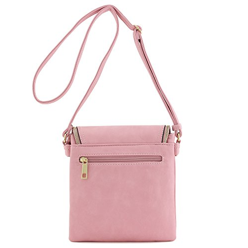 Top nbsp;with Pink Accent Compartment Crossbody Flap Double Tassel Bag 1Sw1Xd
