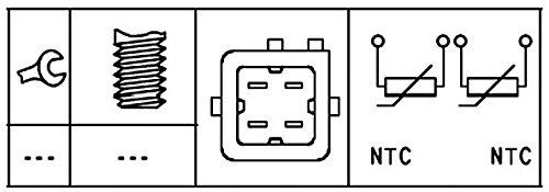HELLA 6PT 009 309-551 Sensor temperatura del refrigerante con material de montaje a/ñadido N/úmero de conexiones 4
