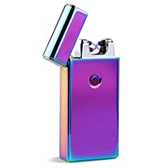 Specifications:USB ElETRIC LIGHTER:made of high quality Zinc Alloy Material,very durable and elegant to use. With 220mah Large Battery Capability,it can light up cigarettes up to 4 packs,and it just need 2 hours for full charged.Tiny design a...