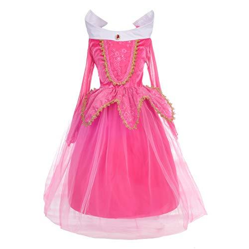 Dressy Daisy Girls' Sleeping Beauty Princess Aurora Costume Fancy Party Dresses Size 5/6 ()