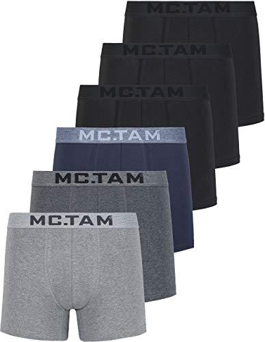 MC.TAM® Herren Boxershorts 95% Baumwolle(Oeko Tex® Standard 100) 6er und 12er Pack Ergonomische Passform
