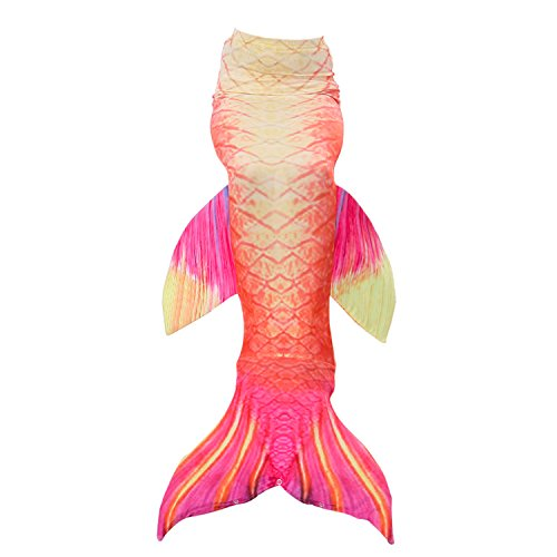 Fanryn Mermaid Tail Swimmable Mermaid Tails for Swimming by Girls,Boys,Kids and Adults Sizes Costume Swimsuit Can Match (Killer Mermaid Costume)