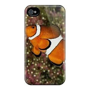 Cute Appearance Cover/tpu EMEdpaN6736RBJQv Percula Clownfish Case For Iphone 4/4s