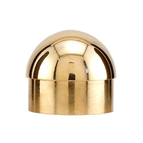 - KegWorks Domed End Cap - Polished Brass - For 2