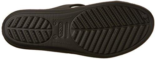 Silver Metallic Sandal Embellished Sanrah Crocs Black Women's Aq60z0