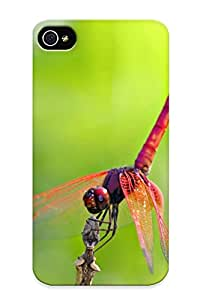 Defender Case With Nice Appearance (red Dragonfly ) For Iphone 4/4s