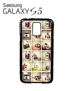 Retro Cameras Photography Mobile Cell Phone Case Samsung Galaxy S5 Black