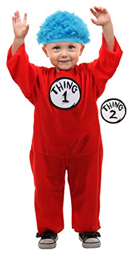 Dr. Seuss Thing 1 or Thing 2 Kids Costume (12-18 (Dr Seuss Thing 2 Costume)
