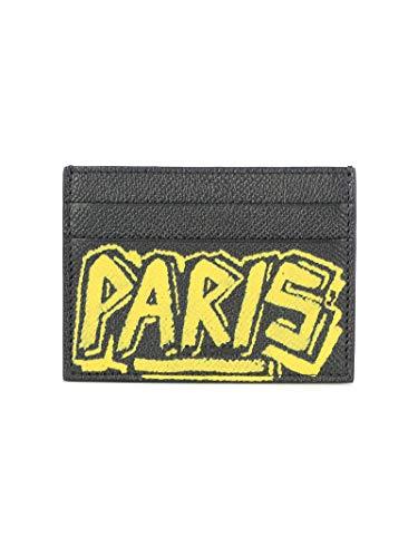 Luxury Fashion | Balenciaga Man 5793110OTO31070 Black Leather Card Holder | Fall Winter 19