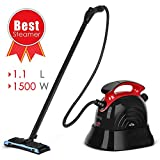 Steam Cleaner, SIMBR Best Steam Mop, Maximum 6M Cleaning Radius, 1.1L Multipurpose Steamer with 13 Accessories for Floors, Carpet, Garment, Windows, Home Use and More