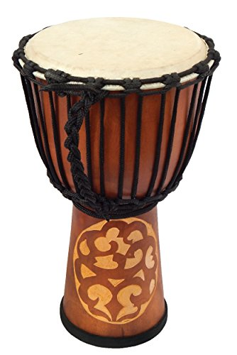 Djembe Standard linecarv, 20'' tall, 10'' head, NK150 by Terre