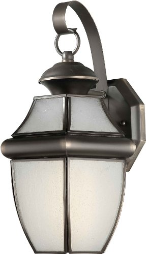Forte Lighting 10019-01-14 Exterior Wall Light with Frosted Seeded Glass Shades, Royal Bronze ()