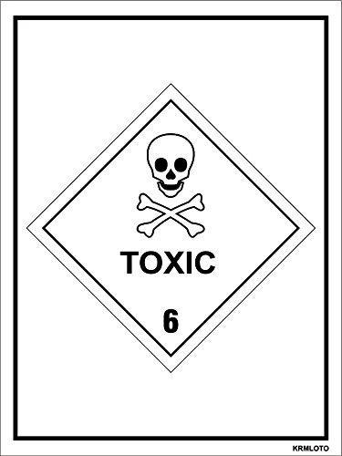 Self Adhesive Labels - Toxic (Set of 50 pcs)