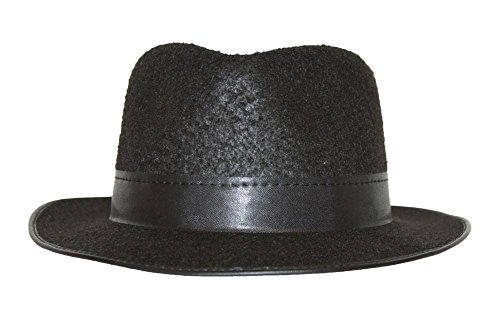 (Made in USA Permalux Fedora Hat - Black)