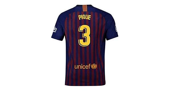 LISIMKE 2018-2019 Home Messi #10 Barcelona Kids Or Youth Soccer Jersey /& Shorts /& Socks