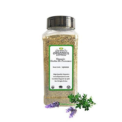 HQOExpress   Organic Herbs De Provence   8.4 oz. Chef Jar Salted Salad