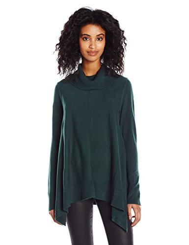Knits by Hampshire Women's Cowl Neck Shark Bite Sweater, Alpine, Medium
