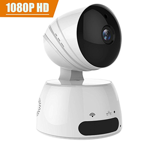 Home Internet Security Camera, WiFi Wireless IP Cameras with 1080P HD, Night Vision, Two Way Audio, Pan-Tilt-Zoom, Motion-Triggered Notifications, Work With Mobile App Based (1080P)