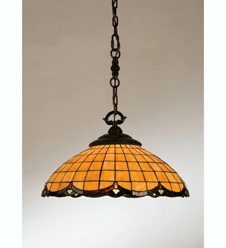 Meyda Victorian Art - Meyda Tiffany 28381 Victorian Art Glass Nouveau Elan Pendant