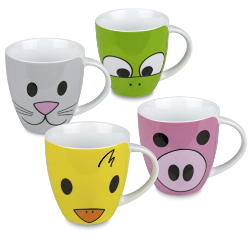 Konitz Zoo Mugs, Set of 4 ()