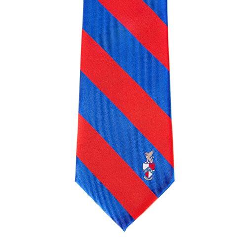 Beta Theta Pi Fraternity Necktie Tie Greek Formal Occasion Standard Length Width Hanky Pocket Square (Striped Crest Necktie) -