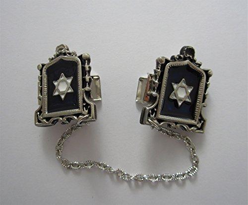 Star of David silver plated Jerusalem TALIT CLIPS tallis talis tallit - Star Clip Tallit