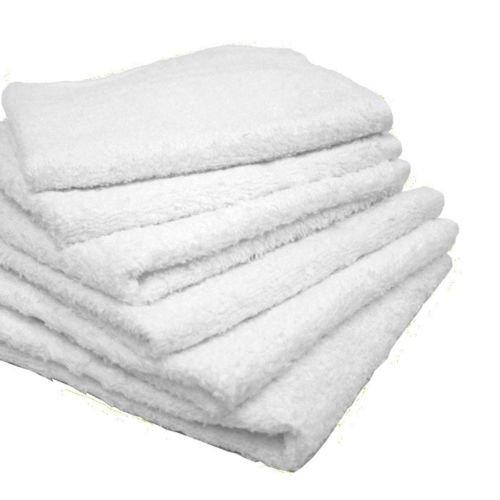 GHP 20Lbs of White Cottom 12''x12'' Hem Stitch Locking Design Soft Blend Towels