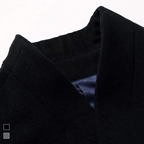 Hommes Slim Manteau Doublure Classique Mogu Rembourrée Fit Noir Rx1qIvd