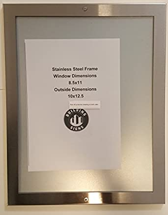 Elevator Picture Frame 85x11 Stainless Steel Amazoncom