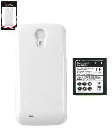 Emartbuy ® Samsung Galaxy S4 I9500 Verlängerte Batterie 5200Mah Mit Weiß Battery Cover