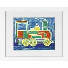 Todd Walk Galleries Train - Framed Art Print