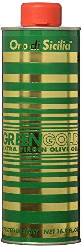 Oro di Sicilia Green Gold Extra Virgin Olive Oil, 16.9 Ounces