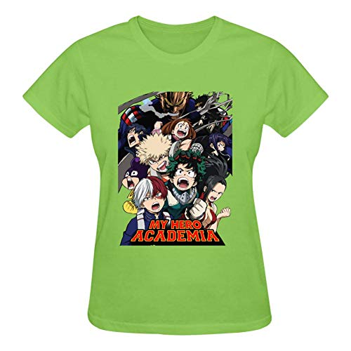 Women's T-Shirts My Acade MHA Short Sleeve O Neck Casual Girl's Shirts Casual Workout Tee Tshirts Green]()