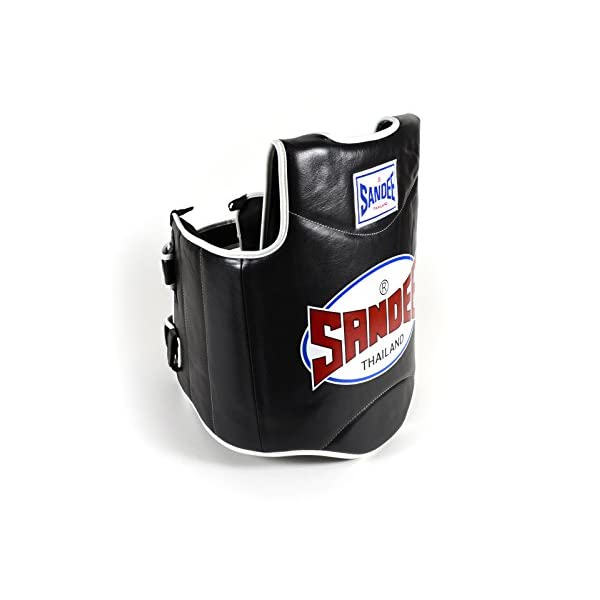 Sandee-Synthetic-Leather-Authentic-Body-Shield-Black-White-M