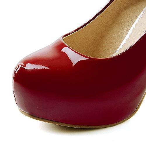 Rosso Decolte pumps 35 in da solido EU vernice BalaMasa Red donna shoes F86na