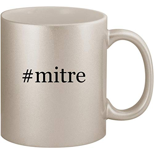 - #mitre - 11oz Ceramic Coffee Mug Cup, Silver