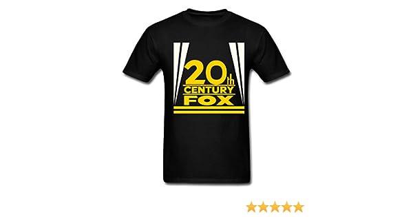 89b50bdf Amazon.com: Best Quality Custom Men's 20th Century Fox Logo T-Shirts Black:  Clothing