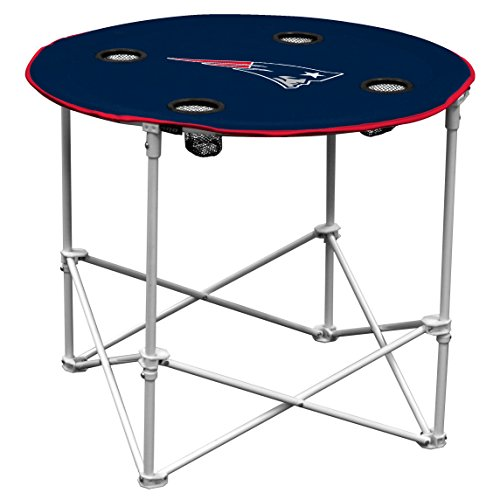 New England Patriots  Collapsible Round Table with 4 Cup Holders and Carry Bag
